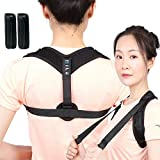 Posture Corrector for Women Men - Comfortable Adjustable Correcting Shoulder Support - Clavicle Posture Brace for Shoulder Alignment – Invisible Thoracic Brace for Hunching Slouching - Back Brace