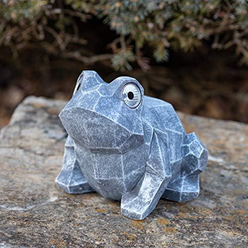 VP Home Geo Hip Hop Frog Solar Powered LED Outdoor Decor Garden Light