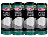 Weiman Granite Wipes - 4 Pack[120 Wipes Total]- Non Toxic Clean Brighten and Protects Solid Sealed Stone Surfaces Marble Quartz Counter Top Floor- 30 Count Each