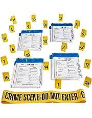 Kobe1 Crime Scene Kit:Misdaad Scène Tape Niet Invoeren (20 mx1), Bewijs Zakken (x8), Foto Bewijs Frames (Kaarten:1 tot 20), (7 cm x 4 cm gevouwen)