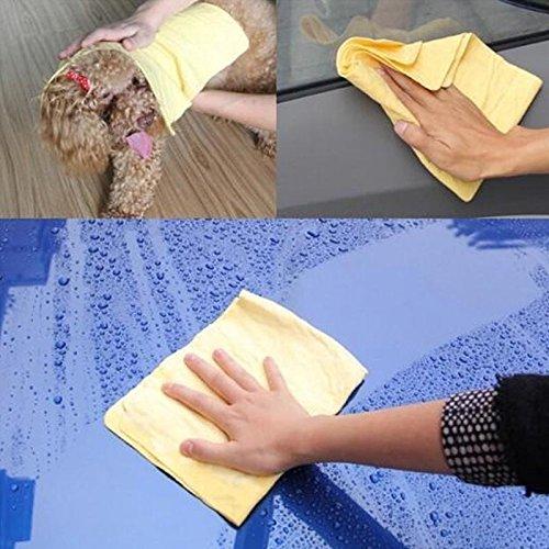 Frenshion PVA Peaux de Chamois Cleaning Fabric Wipes Chiffon de lavage de voiture Nettoyage 66x43 cm au hasard durable service