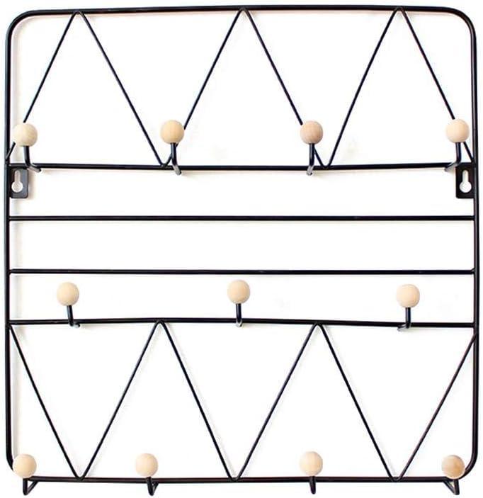 Perchero de hierro forjado nórdico colgador de pared estante de pared capa de tapa llave marco de pared