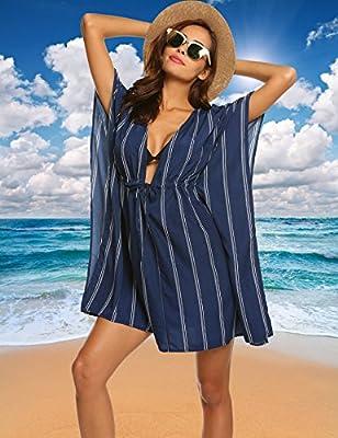 ADOME Women Sexy Bikini Cover up Bathing Suit Swimsuit Swimwear Stylish Tunic Cover up