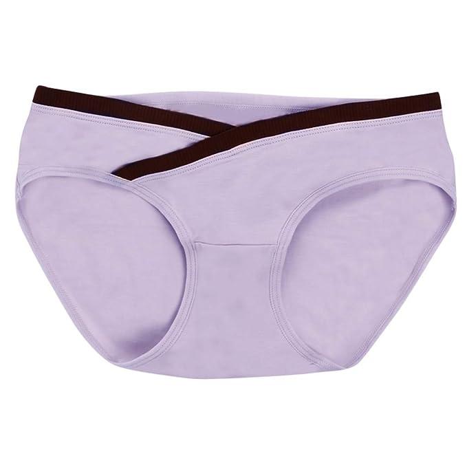 LETTER Ropa Interior para Mujer Sujetador Strappy Encaje Vendaje de Hollow Vestido cordón Embarazadas bajo el Embarazo de Maternidad Ropa Íntima NegraTanga ...