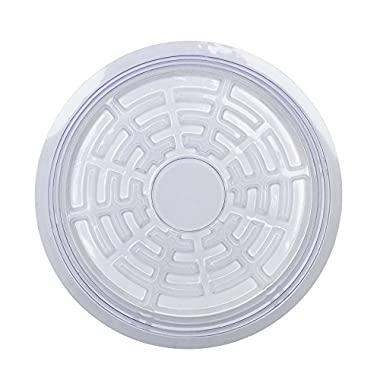 Life Solutions Clear Plastic Plant Pot Saucer Drip Tray - 5 Pack - 8 inches