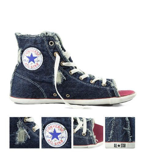 419b9091da0 Converse  All Stars Open Toe  LIMITED EDITION Denim Trainers (5 UK)   Amazon.co.uk  Shoes   Bags