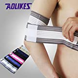 High Elastic Bandage Wrap Basketball Elbow Support Arm Compression Tape Sports Equipment Gear (Random: Color)