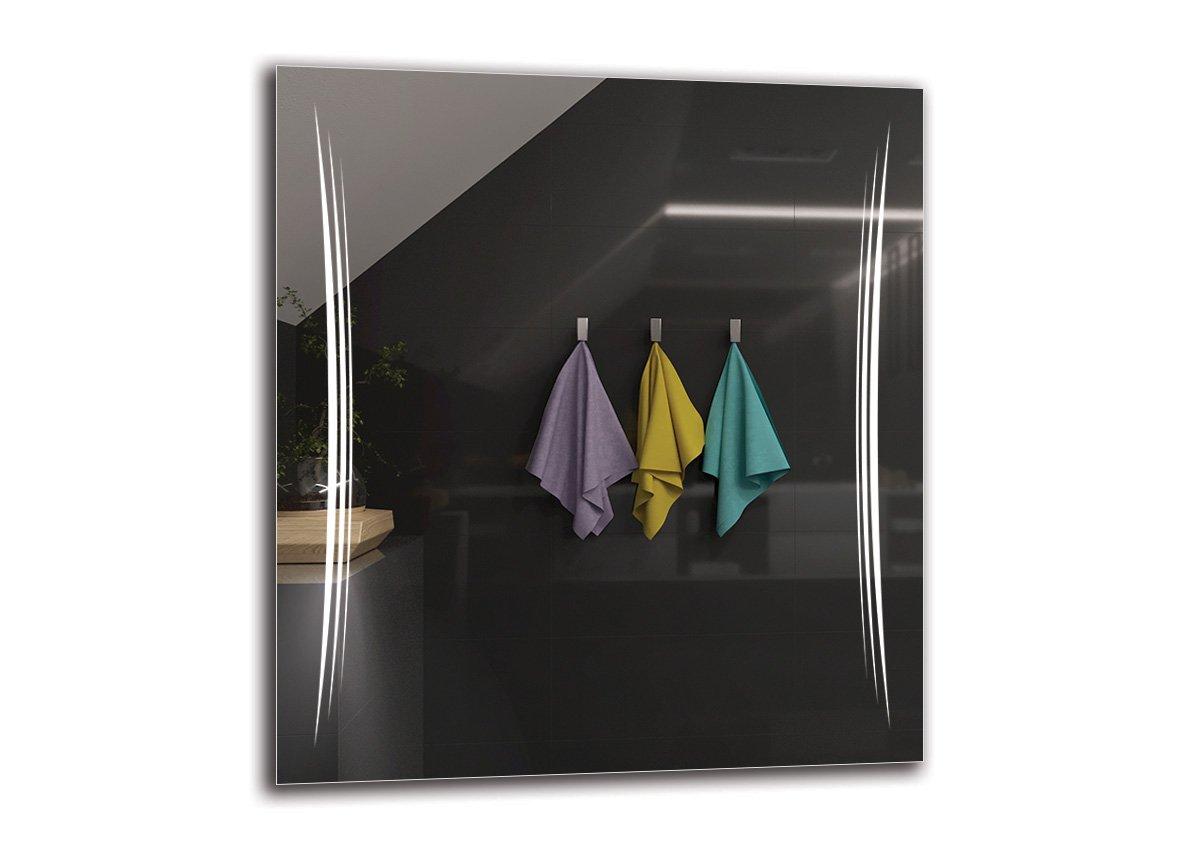 LED Spiegel Premium - Spiegelmaßen 90x100 cm - Badspiegel mit LED Beleuchtung - Wandspiegel - Lichtspiegel - Fertig zum Aufhängen - ARTTOR M1ZP-20-90x100 - Lichtfarbe Weiß kalt 6500K - ARTTOR