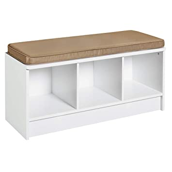 Outstanding Closetmaid 1569 Cubeicals 3 Cube Storage Bench White Inzonedesignstudio Interior Chair Design Inzonedesignstudiocom