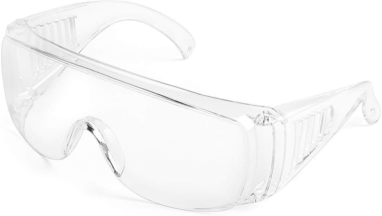 Veperain Gafas de Seguridad, Lentes de Seguridad Antivaho con Pieza de la Nariz Suave, Ligeras y Cómodas de Llevar