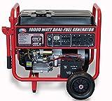 All Power America 10000 Watt Dual Fuel Generator w/ Electric Start, APGG10000GL 10000W Gas/Propane Portable Generator,...