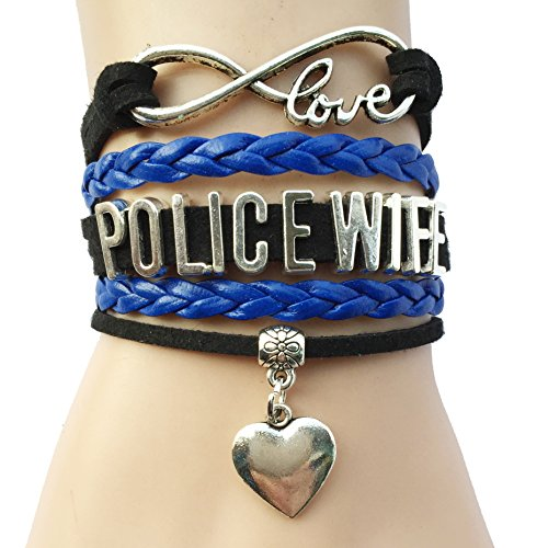 Infinity Love Police Wife Heart Charm Bracelet (Jewelry Police)