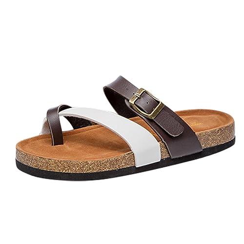 8b7997680 ZKOO Sandalias de Corcho Mujeres Vendaje Punta Abierta Chanclas Zapatillas  Sandalias De Playa Zapato Casual de Verano  Amazon.es  Zapatos y  complementos