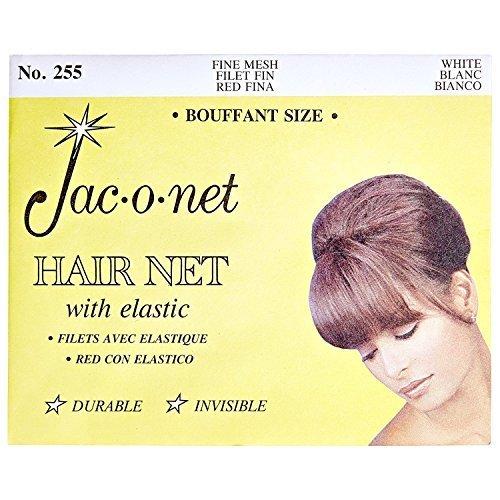 Jac-O-Net Nylon Bouffant Net White White (Net Nylon Hair White)