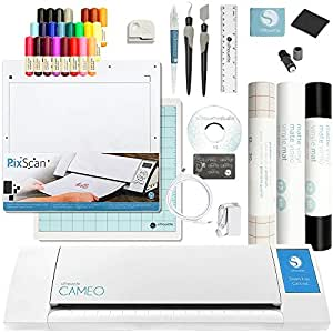 Silhouette Cameo 2 Touch Screen, Sketch Pen Set, Pixscan, 2 Full Rolls Vinyl, Transfer Paper, and Tools