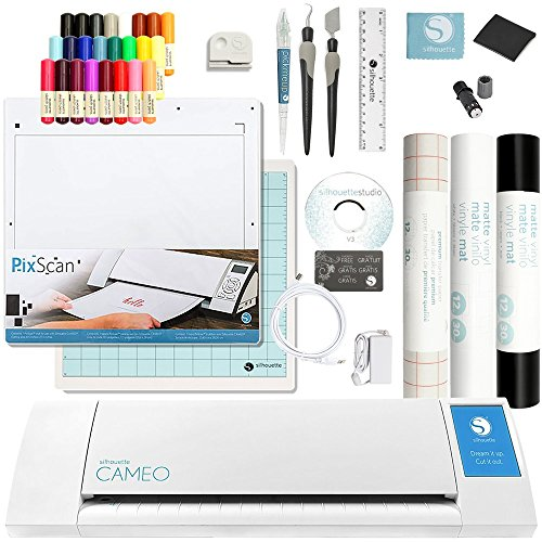 Silhouette Cameo 2 Touch Screen, Sketch Pen Set, Pixscan, 2 Full Rolls Vinyl, Transfer Paper, and Tools by Silhouette