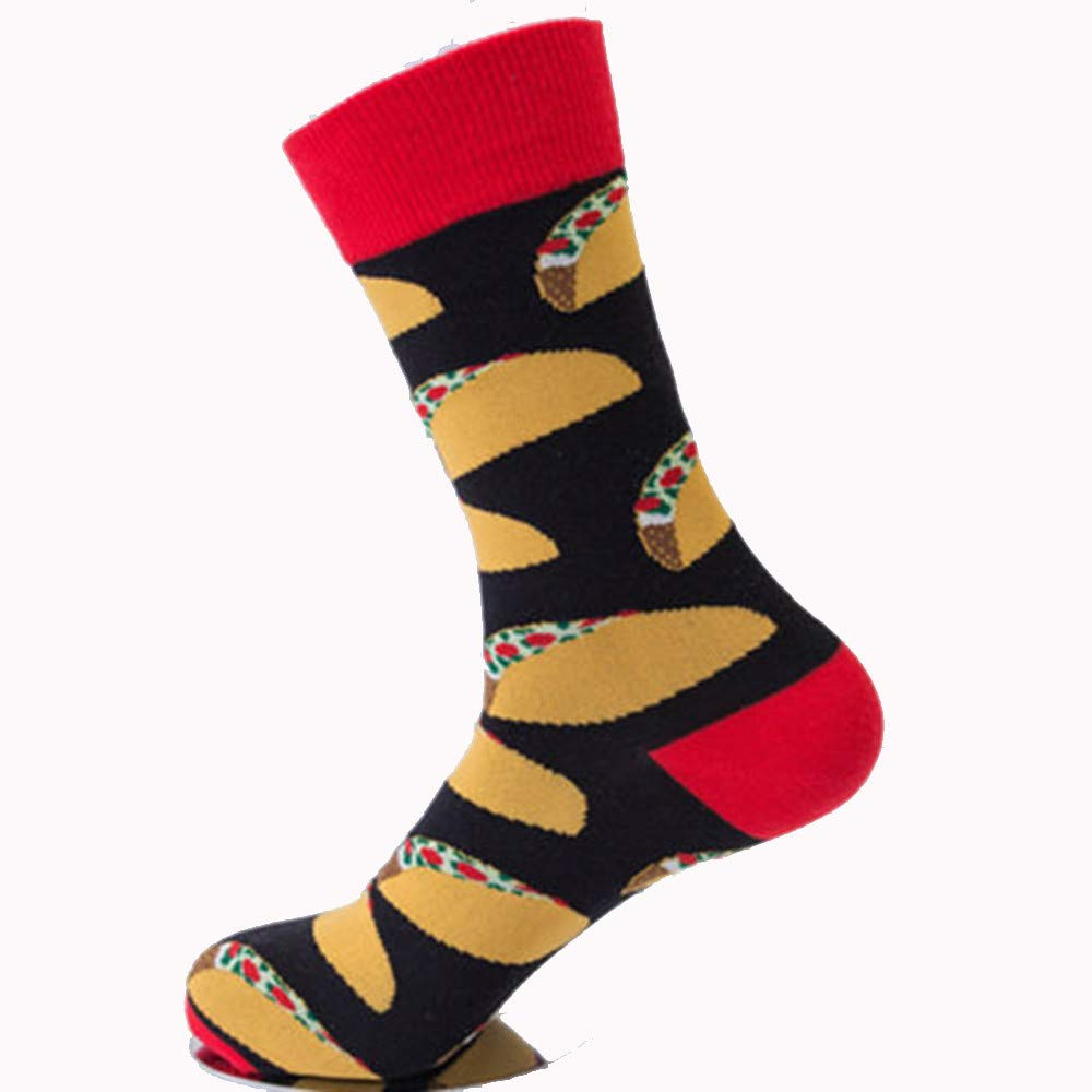 SUKEQ Fancy Design Cotton Knee High Boots Socks Compression Socks for Women Men, Flight, Travel, Nurses, Pregnancy, Sport (Red)