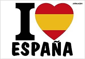 Postal I love España 16x11 cm.: Amazon.es: Oficina y papelería
