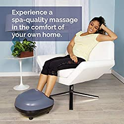 truShiatsu PRO Foot Massager with Heat - Deep Kneading Therapy, Air Compression, Shiatsu Pressure Point Technology, Infrared Heat and Adjustable Intensities for Foot Pain Relief by truMedic