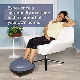 truShiatsu PRO Foot Massager Machine with Heat Deep Kneading Therapy, Air Compression, Shiatsu Pressure Point Technology…
