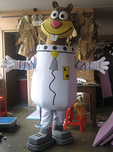Spongebob Sandy Mascot Costume Adult Cartoon Character Costume