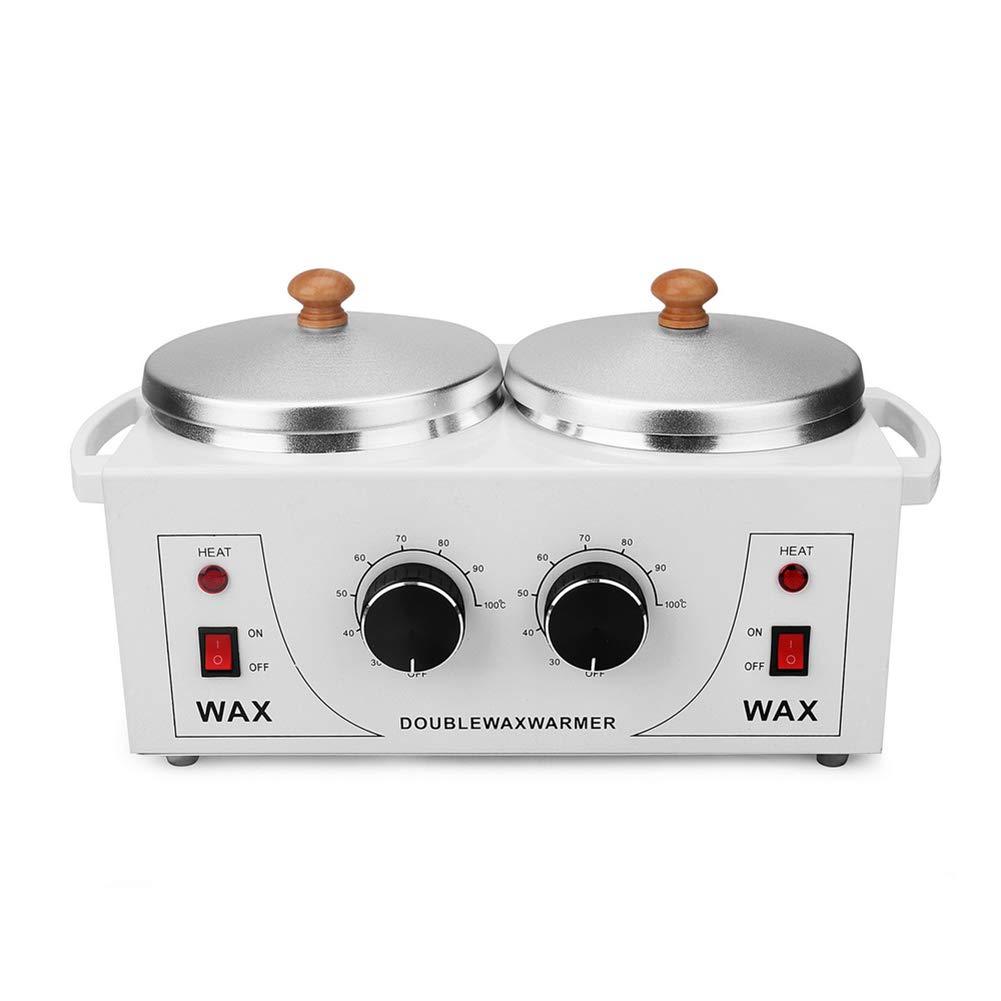 Dual Pot Wax Heater Hot Warmer Machine Home Salon Spa Facial Skin Care Equipment MF@sqy