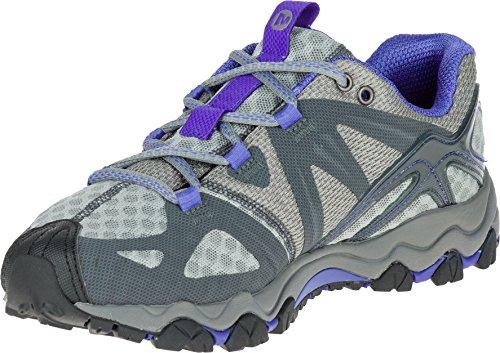 Merrell Women's Grassbow Air Trail Running Shoe Granite/Blue, 9.5 B(M) US (Merrell Womens Athletic Shoes)
