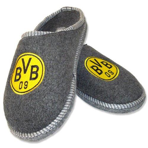 BVB-Filzpantoffel Anthrazit 01
