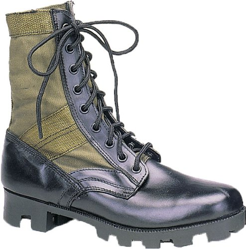 Olive Drab Panama Sole Military Leather Jungle Boots 5080 Size 11-Regular (Womens Military Boots)