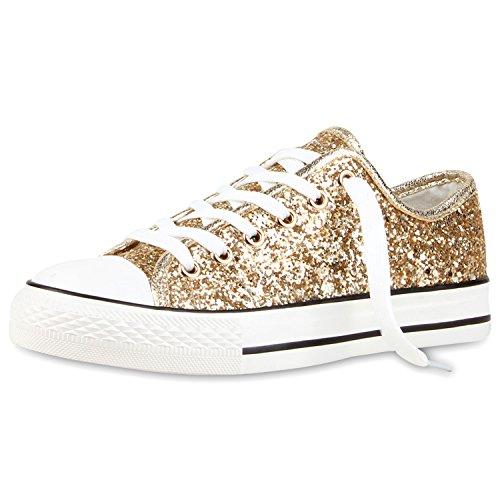 Best-botas para mujer zapatilla zapatillas zapatos de cordones estilo deportivo Gold Neu Nuovo