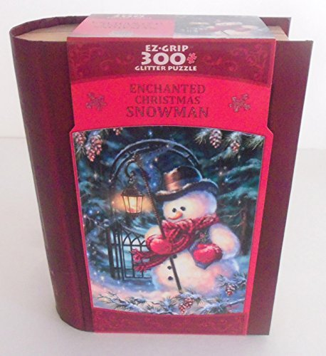 Enchanted Christmas Snowman Ez Grip 300 Pc Jigsaw Puzzle with a Book Box