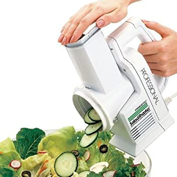 Presto Professional SaladShooter Electric Slicer/Shredder White