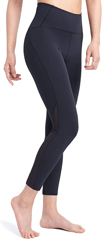 Women/'s Sports Legging Mesh Tummy Control Yoga High Waist Skinny Athletic Pants