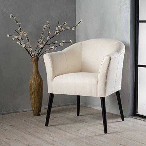 Charmaine Beige Fabric Arm Chair
