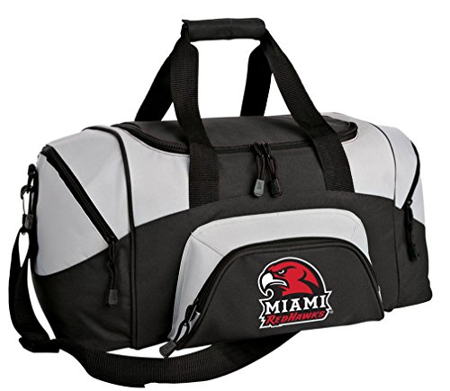 Broad Bay SMALL Miami RedHawks Duffel Bag Miami University Gym Bags or Suitcase by Broad Bay