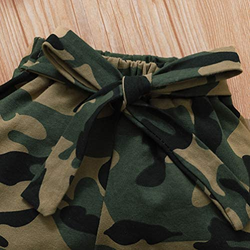 Newborn Baby Camouflage Outfit Daddys Girl Ruffle Romper Camo Pants Headband Set