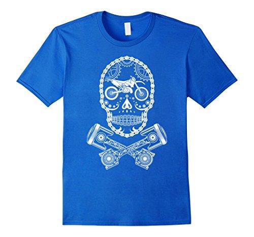 Men's MX Motocross Dirt Bike Sugar Skull Large Royal Blue