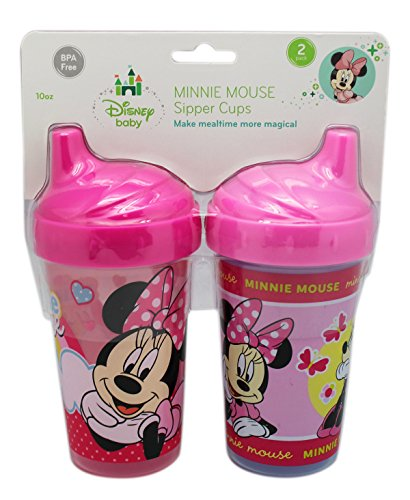 Price comparison product image Disney's Minnie Mouse Dual Pink Colored Sippy Cups