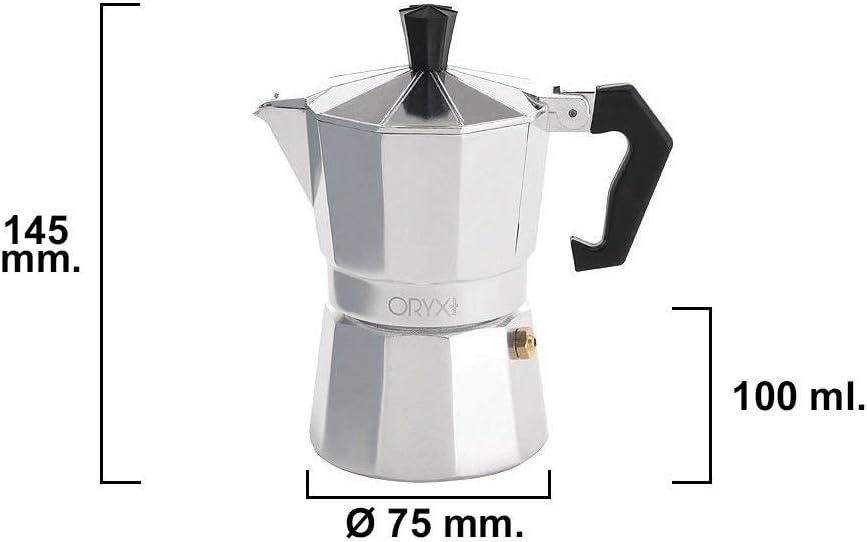 Oryx 5056014 Cafetera Aluminio 12 Tazas, 600 ML: Amazon.es: Hogar