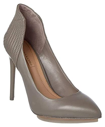 2dcc1fbced Amazon.com  BCBGMAXAZRIA Abbott Leather Pump Grey Dusk Nappa