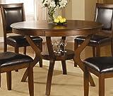 Monarch Specialties Ash Veneer Dining Table, 48-Inch, Dark Walnut
