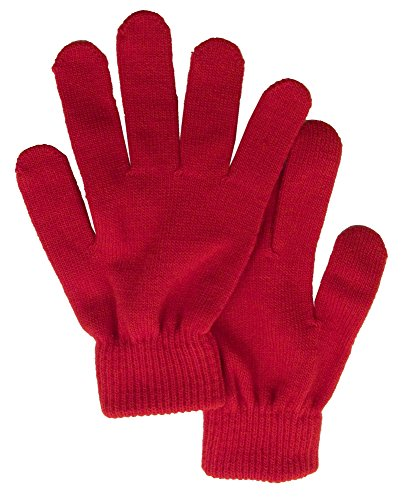 Men / Women's Winter Knit Solid Color Gloves Magic Gloves, Red