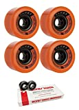 Globe 70mm Drifter Longboard Skateboard Wheels with Bones Bearings - 8mm Bones Swiss Skateboard Bearings - Bundle of 2 items