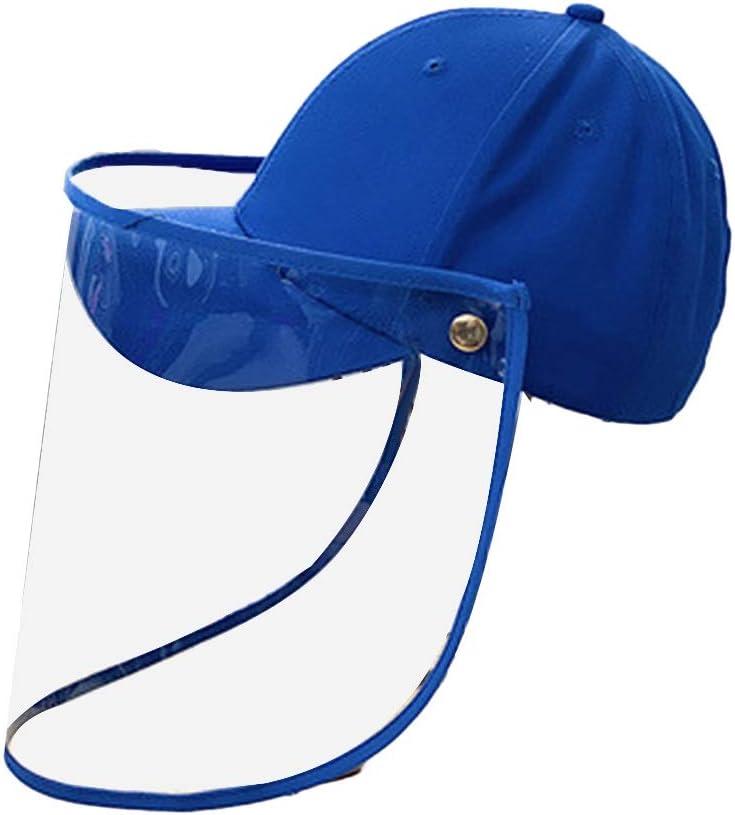 Gorra de béisbol con la Cubierta de la mascarilla máscara Transparente Anti-Saliva Prueba de Polvo de protección Transpirable Sombrero Protección Cuello de la Cara Cubierta for niños de los niños
