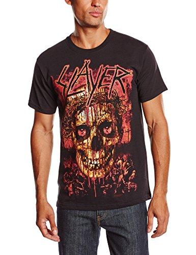 Slayer Mens T Shirt Black Bloody Crowned Death Skull logo Official