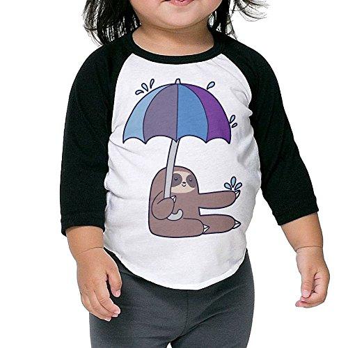 KissKid Sloth Rain Umbrella Infants 3/4 Sleeve Tshirt 5-6 To