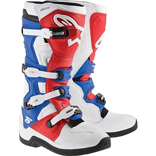 Alpinestars Tech 5 MX Boots Adult Motocross Sole White/Red/Blue - 10 ()