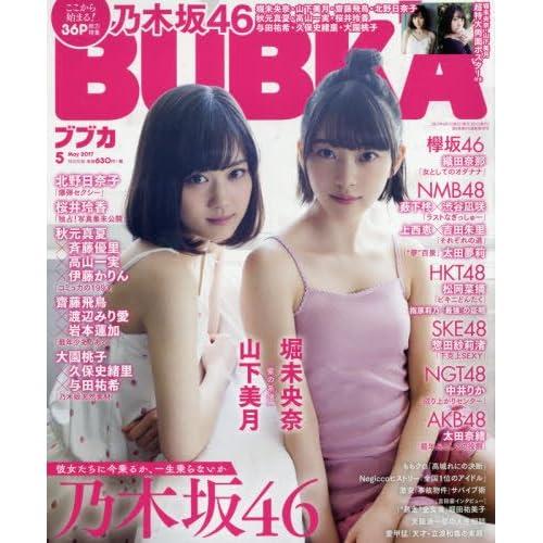 BUBKA 2017年5月号 表紙画像