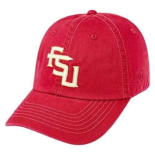 Elite Fan Shop Florida State Seminoles Hat Interlock Garnet - Adjustable - Red