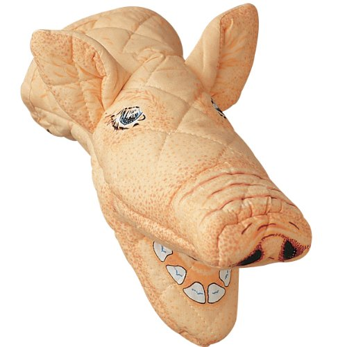 Pig Oven Mitt, Quilted Cotton, Designed for Light Duty Use, by Boston Warehouse